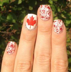 Canada Day nails! Super cute!