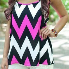Chevron tank top Its made of polyester. The back is racer back. XL	bust: 36.22in Length: 25.59in Tops Tank Tops