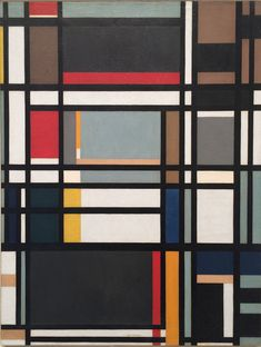 "thunderstruck9: "" Ilya Bolotowsky (Russian/American, 1907-1981), City Rectangle, 1948. Oil on canvas, 34 x 26 in. """