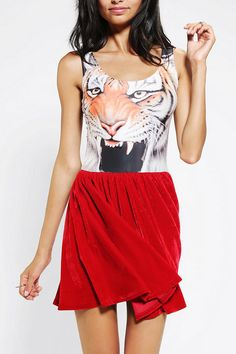 Reverse Velvet Tiger Two-In-One Dress #UrbanOutfitters
