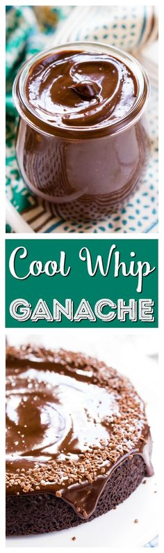 This Cool Whip Ganache is just as creamy, thick, and rich as a traditional ganache recipe, but it's only 25% of the calories! via @sugarandsoulco