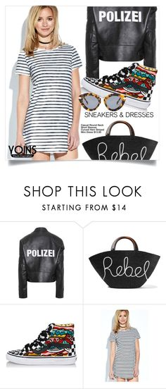 """""""Polizei"""" by interesting-times ❤ liked on Polyvore featuring Vetements, Eugenia Kim, Vans, Karen Walker and SNEAKERSANDDRESSES"""