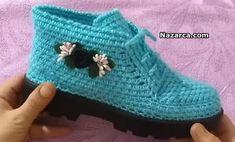 Crochet Sandals, Crochet Basics, Fingerless Gloves, Arm Warmers, Baby Shoes, Tabata, Kids, Clothes, Manualidades