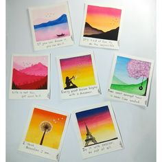 Simple Canvas Paintings, Easy Canvas Art, Small Canvas Art, Mini Canvas Art, Small Paintings, Watercolor Art Lessons, Watercolor Paintings For Beginners, Watercolour, Pastel Art