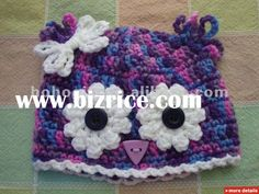 baby+owl+hats+pink+and+aqua | made knit crochet baby owl animal beanie hat handmade crocheted baby ...