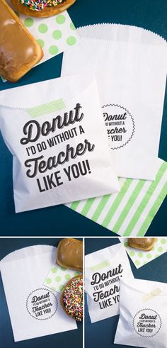 Donut Id do without a Teacher like you! : Free printable