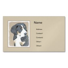 #Bernese Mountain Puppy Magnetic Business Card - #bernese #mountain #dog #puppy #dog #dogs #pet #pets #cute #bernesemountaindog