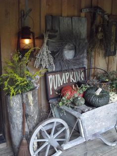 Primitive Fall Porch...