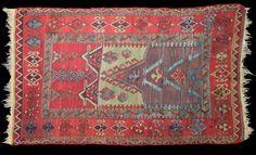 Farnham Antique Carpets   Antique Turkish Prayer Kelim