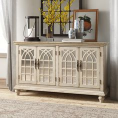 """Alfreda 60"""" Wide Credenza & Reviews 