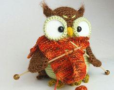 Shalette the owl crocheted