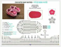 Our trick: Tutorial crocheted Baby Booties - Crochet Baby intra-footpad of Preparation Booties Crochet, Crochet Baby Booties Tutorial, Crochet Baby Sandals, Crochet Baby Boots, Crochet Slippers, Tutorial Crochet, Crochet For Kids, Diy Crochet, Crochet Hats