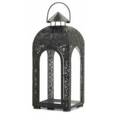 Arched Black Medallion Lantern (L)