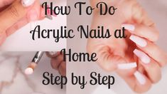 How To Do Acrylic Nails At Home Step by Step. This Complete Guide explains all -… How To Do Acrylic Nails At Home Step by Step. This Complete Guide explains all – what you need to know and do to create beautiful Acrylic Nails. Acrylic Nails At Home, Acrylic Nail Tips, Gel Nails At Home, Simple Acrylic Nails, Acrylic Nail Designs, What Is Acrylic Nails, Painted Acrylic Nails, Fingernail Designs, Acrylic Art