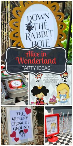 Magical decorations and ideas at this Alice in Wonderland girl birthday party! See more party ideas at CatchMyParty.com!