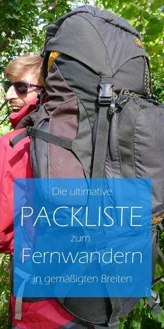 Packliste zum Fernwandern - z.B. auf dem Fernwanderweg Schluchtensteig oder Westweg im Frühling oder Herbst