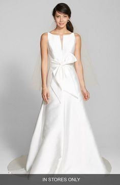 Jesús Peiró Bow Detail Mikado Dress (In Stores Only) | Nordstrom