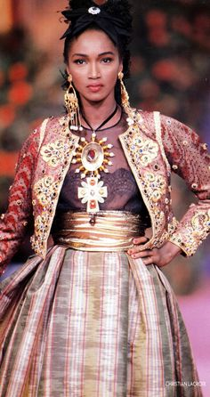 Christian Lacroix Haute Couture fall/winter 1990 , 90s Katoucha Niane