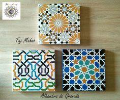 Azulejos en lienzo Islamic Art Pattern, Arabic Pattern, Pattern Art, Pattern Design, Geometric Shapes Art, Geometric Designs, Islamic Tiles, Shape Art, Wall Art Prints