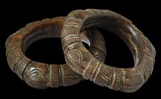 Nigerian Bronze Bangles / Michael Backman Ltd. / References: Cole, H.M., Visions of Africa: Igbo, 5 Continents, 2013 /Pitt-Rivers, A., Antique Works of Art from Benin, 1976 / Plankensteiner, B., Benin Kings and Rituals: Court Arts from Nigeria, 2007 /
