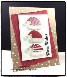 The challenge this week at  Merry Monday  is to make a card using something    warm. I have this adorable new stamp and punch combo from St...