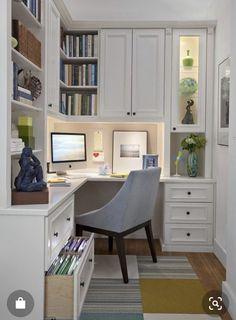 Trendy Home Office Design Built Ins Corner Desk Home Office Layouts, Home Office Organization, Home Office Space, Home Office Desks, Small Office, Office Spaces, Organization Ideas, Small Home Offices, Office Nook