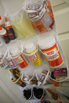 Great Ideas for Keeping It All Organized - Use a Shoe Organizer to Hold Craft Supplies