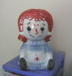 Vintage #4149 Raggedy Ann Headvase Planter Made in Japan