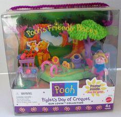 Pooh's Friendly Places Piglet's Croquet Day Mattel 1999 Sun Lovin Collection New #Mattel