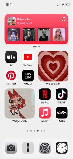 Youtube M, Music Tv, Homescreen, Nct, Netflix, Organization, Iphone, Ideas, Getting Organized