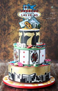 Las Vegas Cake by Tamara - For all your cake decoration supplies, please visit craftcompany.co.uk