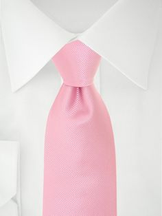Cravate unie rose à 7 plis