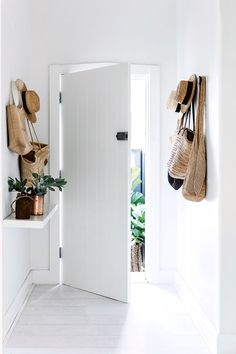 white and bright entryway