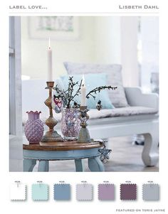 Really love the color combo for the guest room.already have the grayish plum walls in master bath! Plum Walls, Living Room Decor, Bedroom Decor, Bedroom Colors, Master Bedroom, Bedroom Ideas, Dining Room, Home And Deco, Colour Schemes