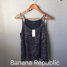 SALE Banana Republic Sleeveless top Fit to perfection. This garment is part of a special limited collection made only for petites. Banana Republic Sleeveless top, with snake print. (2layers, outer layer 100% Polyester, inner top 95% Rayon/Viscose, 5% Spandex/Elastane. Hand wash only, dry flat, cool iron.  No trades or PP. MSRP: $44.99 Banana Republic Tops Camisoles
