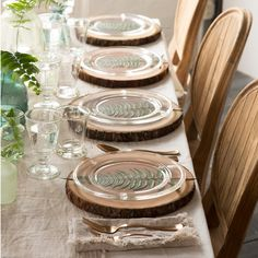 Bee Dinner Plate via Terrain - beautiful earthy tablescape