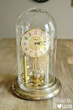Goodwill Upcycle: From Dome Clock to Succulent Cloche