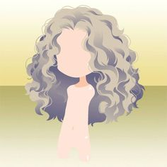 (Hairstyle) Side Parted Wavy Curly Long Hair ver. Anime Curly Hair, Curly Hair Drawing, Manga Hair, Hair Reference, Drawing Reference, Poofy Hair, Chibi Hair, Hair Illustration, Hair Sketch