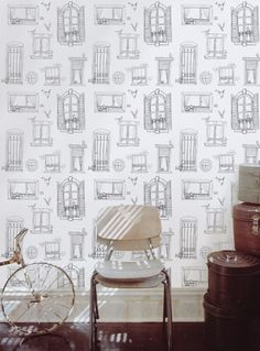 wallpaper - perfect for an entry way or one wall of a living room