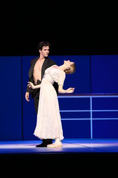 Guillaume Côté as Nijinsky flirting with Heather Ogden as Romola, who would later become his wife.  Photo by Cylla von Tiedemann
