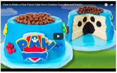 Torta Paw Patrol ,How to Make a Paw Patrol Cake from Cookies