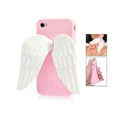 Pink 3D Angel Wing Silicone Stand Case Cover for iPhone 4 4G 4S --- http://www.pinterest.com.gp1.me/iv