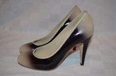 "Sz 37.5-7 Chanel Two Tone Black Beige Patent Pumps 4"" Heels #CHANEL #PumpsClassics #Formal"