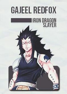 Gajeel Redfox ~ fictional character crush!!!!!! All the way