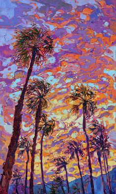 Sunset Dance Painting by Erin Hanson                                                                                                                                                                                 More