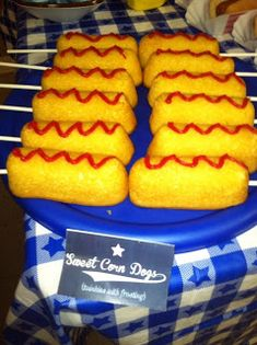 Twinkies w/ frosting to look like corn dogs. Perfect for me! :-)