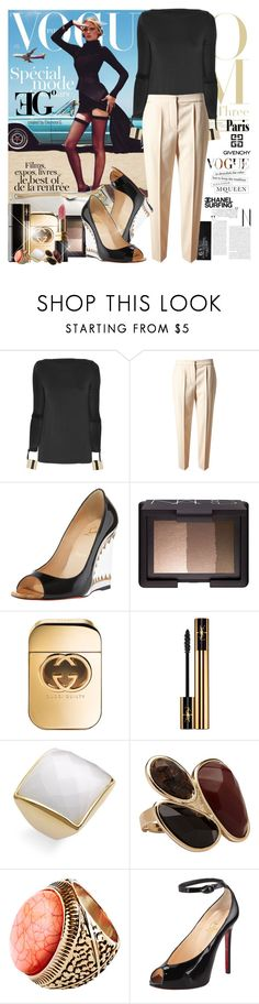 """Tuesday"" by eleonoragocevska ❤ liked on Polyvore featuring Lara, Tom Ford, Missoni, Chloé, Christian Louboutin, NARS Cosmetics, Gucci, Chanel, Yves Saint Laurent and Ariella Collection"