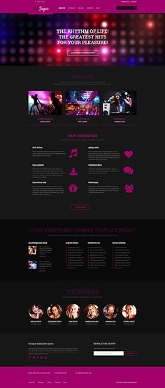 International DJ Website #Wordpress #template. #themes #business #responsive #Wordpressthemes
