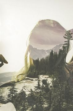 nature- I love how this has been done. I can see a women in this photo and I like how she is cut out
