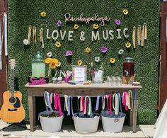 "A darling ""love & music"" drink table from a Rainbowpalooza Tie Dye 1970's Inspired Birthday Party via Kara's Party Ideas KarasPartyIdeas.com (13)"